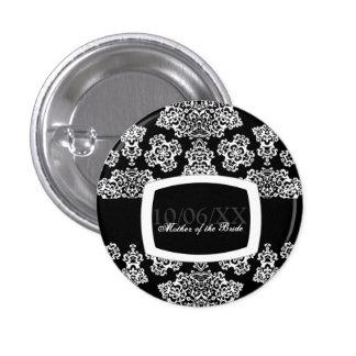 Tudor Rose Damask (White) Wedding Pins