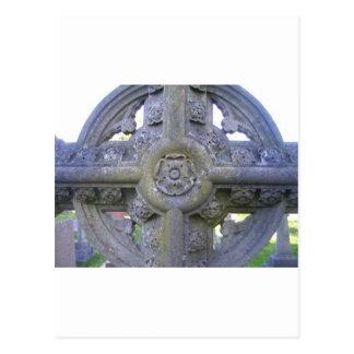 Tudor Rose Gravestone Postcard
