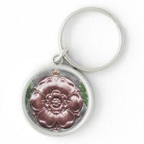 Tudor Rose Key Fob Keychain
