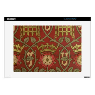 "'Tudor Rose', reproduction wallpaper designed by S 15"" Laptop Skin"