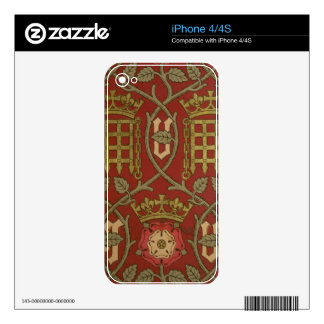 'Tudor Rose', reproduction wallpaper designed by S Decal For The iPhone 4