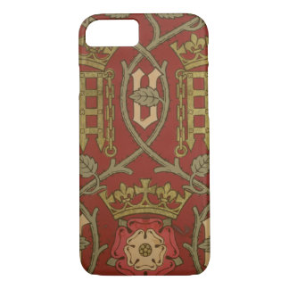 'Tudor Rose', reproduction wallpaper designed by S iPhone 7 Case
