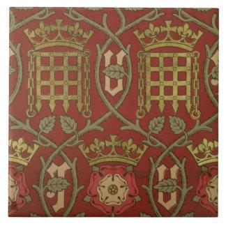'Tudor Rose', reproduction wallpaper designed by S Tile