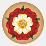Tudor Rose Round Sticker