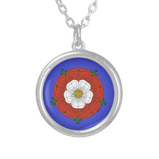 Tudor Rose Silver Plated Necklace