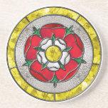 Tudor Rose Stained Glass Coaster