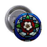 Tudor Rose Stained Glass Rose Pin