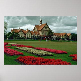 Tudor se eleva los jardines del gobierno, flores d posters