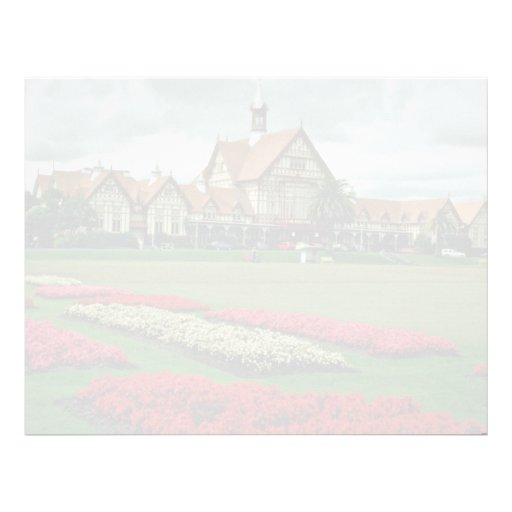 Tudor se eleva los jardines del gobierno, flores membrete personalizado