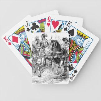 tudor style card bicycle card decks