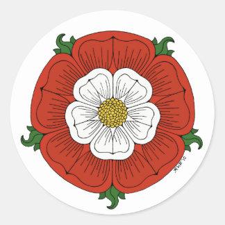 Tudor subió pegatina redonda