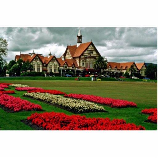 Tudor Towers Government Gardens, Rotorua Standing Photo Sculpture