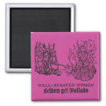 Tudor Trouble and Strife 2 Inch Square Magnet