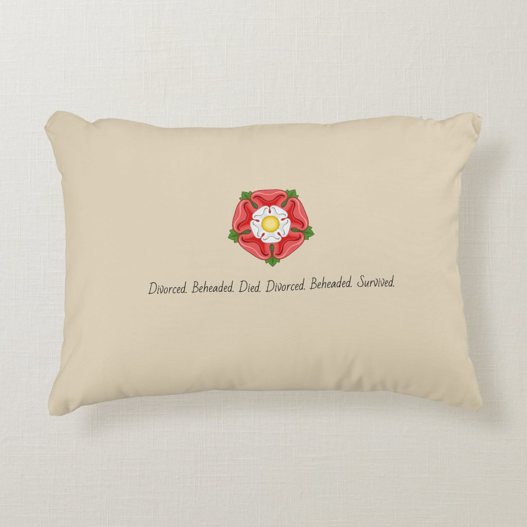 Tudor Wives with Tudor Rose Accent Pillow