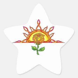 Tudor's Sunrise Star Sticker