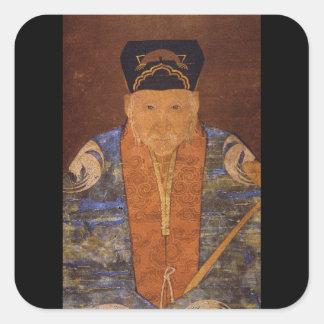 Tue Taoist Abbot Lun_The Orient Square Sticker