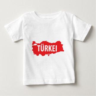 Tuerkei kontur zeichen baby T-Shirt