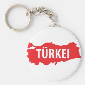 Tuerkei kontur zeichen basic round button keychain