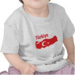 Tuerkiye contour icon t shirts