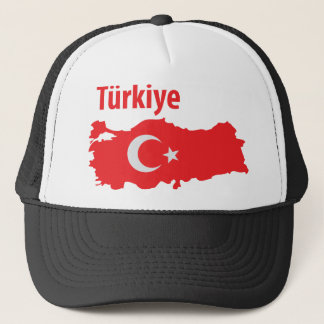 Tuerkiye contour icon trucker hat
