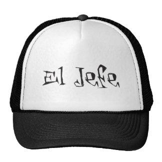 Tuerto del logotipo del EL Jefe enrrollado Gorros