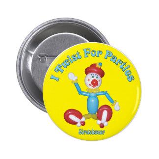 Tuerzo para el globo del payaso del botón de los f pin redondo de 2 pulgadas