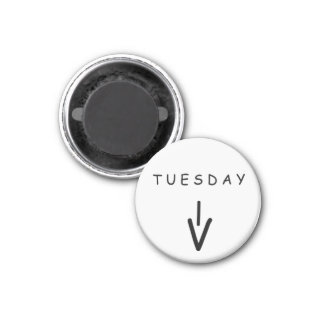 Tuesday Arrow Small White Magnet by Janz