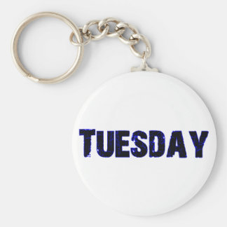 Tuesday Day of the Week Merchandise Key Chains