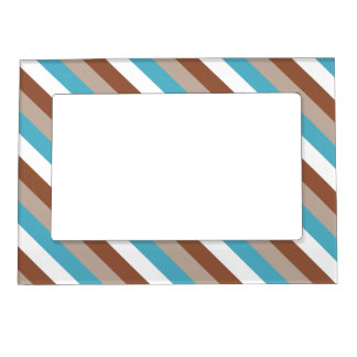 Tuesday Morning Stripes Magnetic Photo Frames