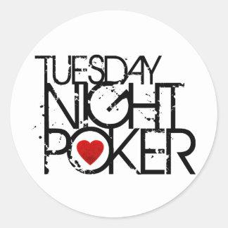 Tuesday Night Poker Classic Round Sticker