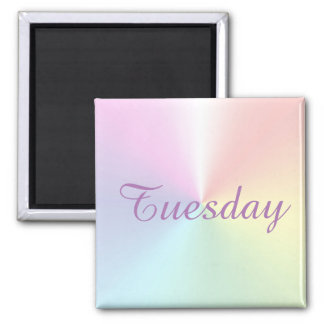 Tuesday Shimmer Square Magnet by Janz