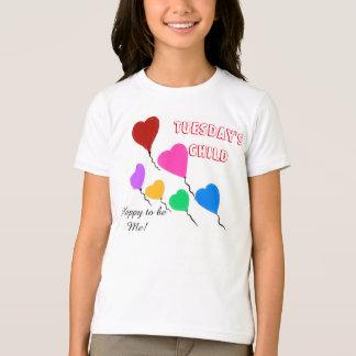 Tuesday's Child Cute Heart Balloons T-Shirt