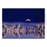 Tufas and Moon Greeting Card