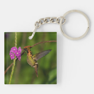 Tufeted Coquette Keychain