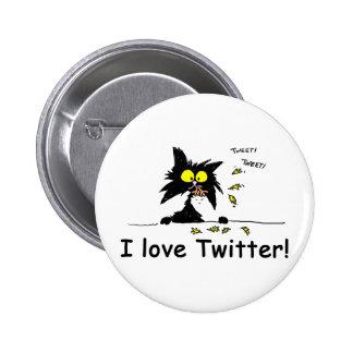Tuff Kitty loves Twitter Button