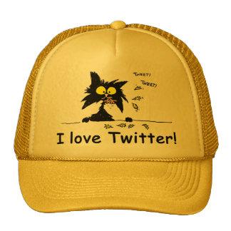 Tuff Kitty loves Twitter Trucker Hat