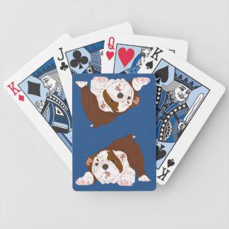 Tuff Pup Playful Bulldog Puppy Bicycle Playing Cards