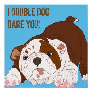 Tuff Pup Playful Bulldog Puppy Poster