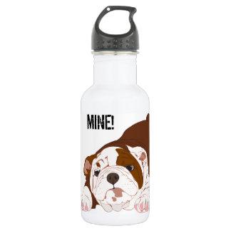 Tuff Pup Playful Bulldog Puppy Stainless Steel Water Bottle