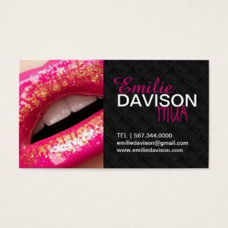 Tuffed Hot Lips MAKEUP ARTIST BUSINESS CARD