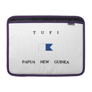Tufi Papua New Guinea Alpha Dive Flag MacBook Air Sleeves