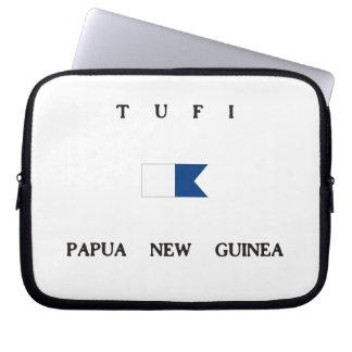 Tufi Papua New Guinea Alpha Dive Flag Laptop Computer Sleeves