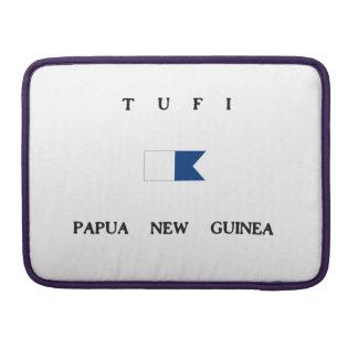 Tufi Papua New Guinea Alpha Dive Flag Sleeves For MacBooks