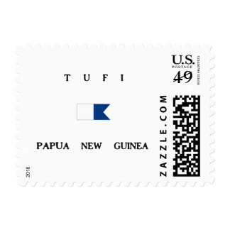 Tufi Papua New Guinea Alpha Dive Flag Postage Stamps