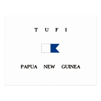 Tufi Papua New Guinea Alpha Dive Flag Postcard
