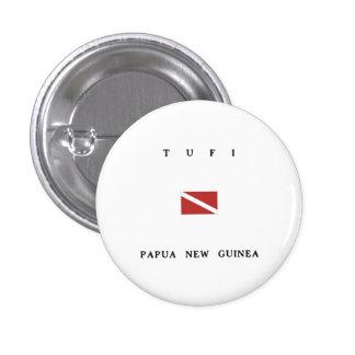 Tufi Papua New Guinea Scuba Dive Flag Button