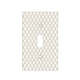 Tuft Ivory & White Leather Buttons Beige Egg Shell Light Switch Cover