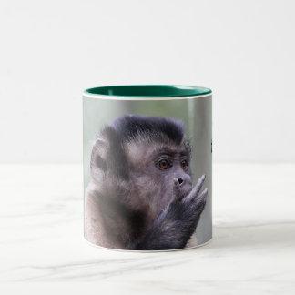 Tufted Capuchin Monkey Photo Two-Tone Coffee Mug