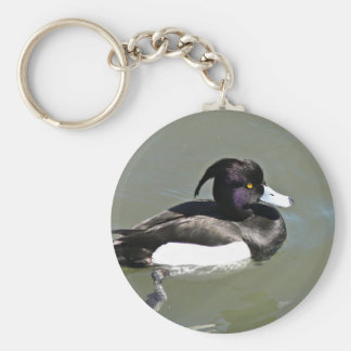 Tufted duck key chain