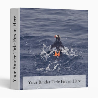 Tufted Puffin 3 Ring Binder